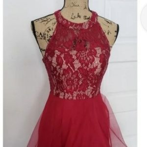 Speechless Red Dress, Formal, High Lo, Size 9